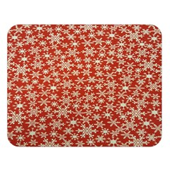 Holiday Snow Snowflakes Red Double Sided Flano Blanket (Large)