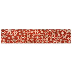 Holiday Snow Snowflakes Red Flano Scarf (Small)