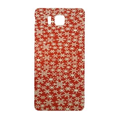 Holiday Snow Snowflakes Red Samsung Galaxy Alpha Hardshell Back Case