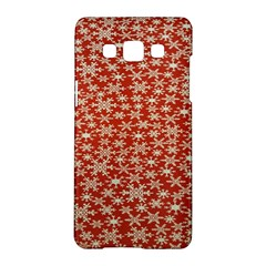 Holiday Snow Snowflakes Red Samsung Galaxy A5 Hardshell Case