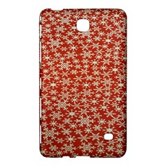 Holiday Snow Snowflakes Red Samsung Galaxy Tab 4 (7 ) Hardshell Case