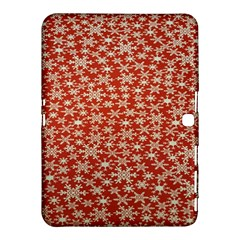 Holiday Snow Snowflakes Red Samsung Galaxy Tab 4 (10.1 ) Hardshell Case