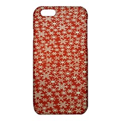 Holiday Snow Snowflakes Red iPhone 6/6S TPU Case