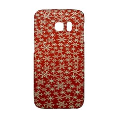 Holiday Snow Snowflakes Red Galaxy S6 Edge