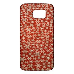 Holiday Snow Snowflakes Red Galaxy S6