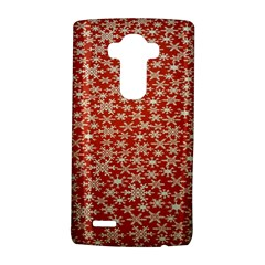 Holiday Snow Snowflakes Red Lg G4 Hardshell Case