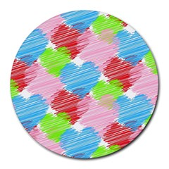 Holidays Occasions Valentine Round Mousepads