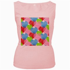 Holidays Occasions Valentine Women s Pink Tank Top