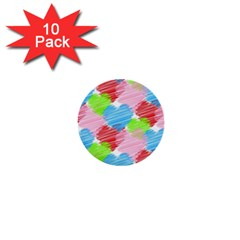 Holidays Occasions Valentine 1  Mini Buttons (10 Pack)