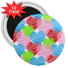 Holidays Occasions Valentine 3  Magnets (10 Pack)
