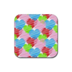 Holidays Occasions Valentine Rubber Square Coaster (4 pack)