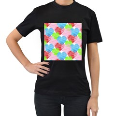 Holidays Occasions Valentine Women s T-Shirt (Black) (Two Sided)