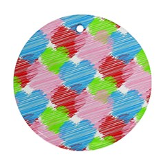 Holidays Occasions Valentine Round Ornament (two Sides)