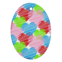 Holidays Occasions Valentine Oval Ornament (two Sides)
