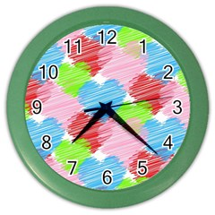 Holidays Occasions Valentine Color Wall Clocks