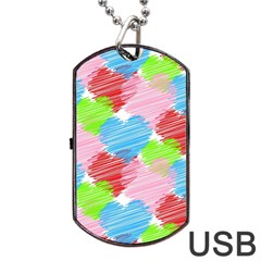 Holidays Occasions Valentine Dog Tag Usb Flash (two Sides)