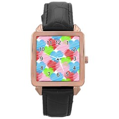 Holidays Occasions Valentine Rose Gold Leather Watch