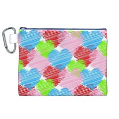 Holidays Occasions Valentine Canvas Cosmetic Bag (xl)