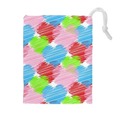 Holidays Occasions Valentine Drawstring Pouches (Extra Large)