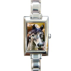 Horse Horse Portrait Animal Rectangle Italian Charm Watch