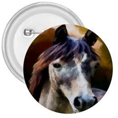 Horse Horse Portrait Animal 3  Buttons