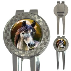 Horse Horse Portrait Animal 3-in-1 Golf Divots