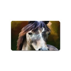 Horse Horse Portrait Animal Magnet (Name Card)