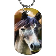 Horse Horse Portrait Animal Dog Tag (two Sides)