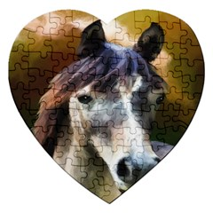Horse Horse Portrait Animal Jigsaw Puzzle (Heart)