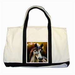 Horse Horse Portrait Animal Two Tone Tote Bag