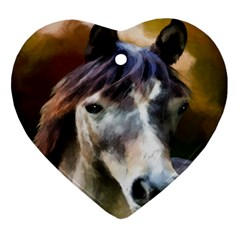 Horse Horse Portrait Animal Heart Ornament (Two Sides)