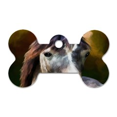 Horse Horse Portrait Animal Dog Tag Bone (two Sides)