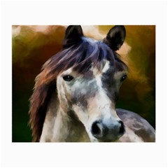 Horse Horse Portrait Animal Small Glasses Cloth (2-Side)