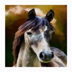 Horse Horse Portrait Animal Medium Glasses Cloth (2-Side)