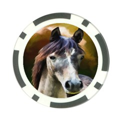 Horse Horse Portrait Animal Poker Chip Card Guard