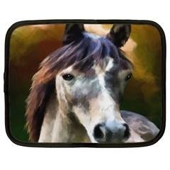Horse Horse Portrait Animal Netbook Case (Large)