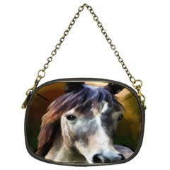 Horse Horse Portrait Animal Chain Purses (one Side)