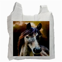 Horse Horse Portrait Animal Recycle Bag (One Side)