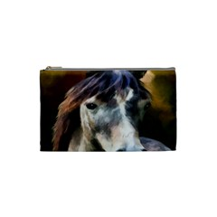 Horse Horse Portrait Animal Cosmetic Bag (Small)