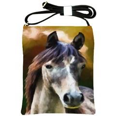 Horse Horse Portrait Animal Shoulder Sling Bags