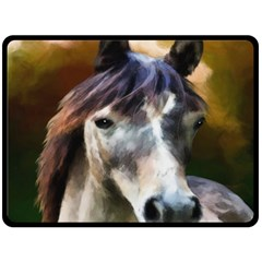 Horse Horse Portrait Animal Fleece Blanket (large)