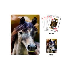 Horse Horse Portrait Animal Playing Cards (Mini)