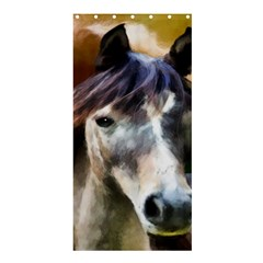 Horse Horse Portrait Animal Shower Curtain 36  x 72  (Stall)