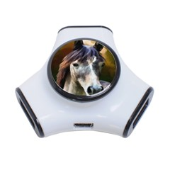 Horse Horse Portrait Animal 3-Port USB Hub