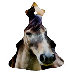 Horse Horse Portrait Animal Christmas Tree Ornament (Two Sides)
