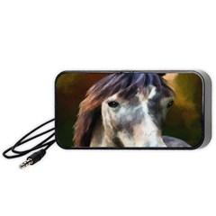 Horse Horse Portrait Animal Portable Speaker (black)