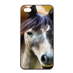 Horse Horse Portrait Animal Apple iPhone 4/4s Seamless Case (Black)