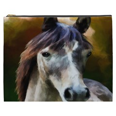 Horse Horse Portrait Animal Cosmetic Bag (XXXL)