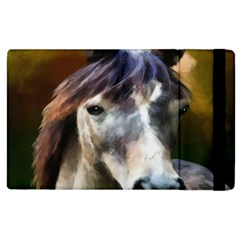 Horse Horse Portrait Animal Apple Ipad 3/4 Flip Case