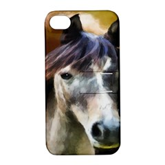 Horse Horse Portrait Animal Apple Iphone 4/4s Hardshell Case With Stand